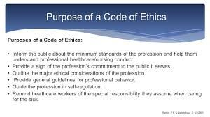Code of ethics for healthcare professionals